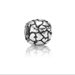 Pandora Multi-Heart Charm   sterling silver